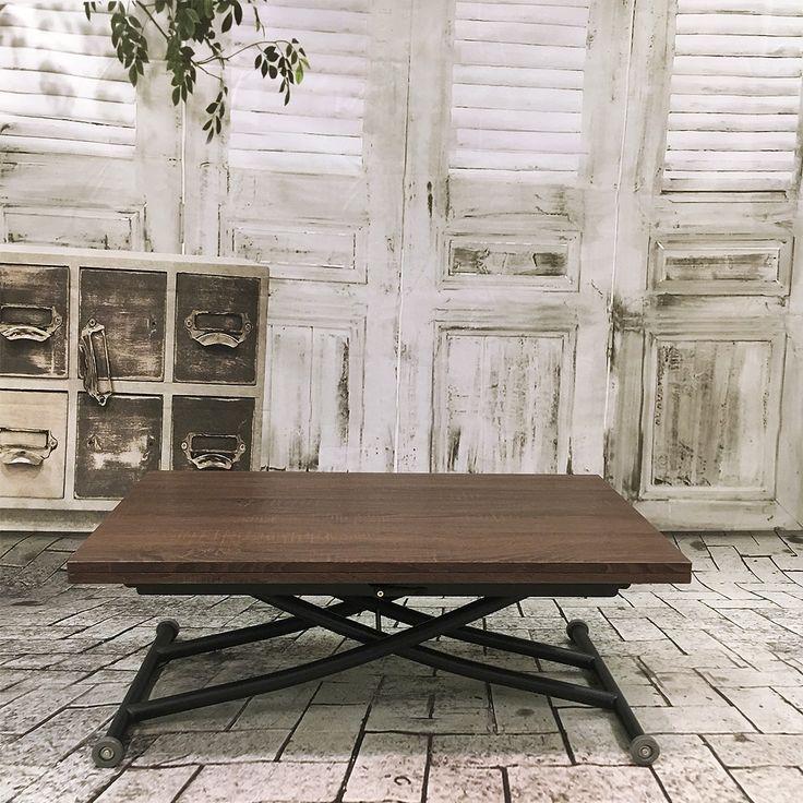 Table relevable ilona noir et bois noyer - Tables relevables - Topkoo