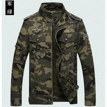Chaqueta de camuflaje fresco de algodón de primavera y otoño de los hombres ocasionales, abrigos de los hombres, moda hombre verde del ejército chaqueta de hombre(China (Mainland))