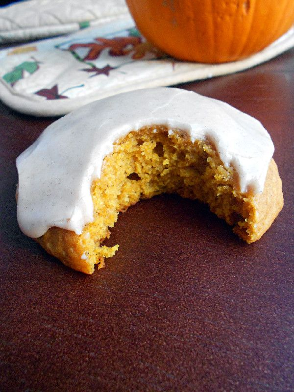 Culinary Couture: Iced Pumpkin Cookies | food | Pinterest