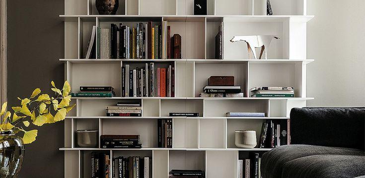 Contemporary Wally Bookcase with modular adaptability