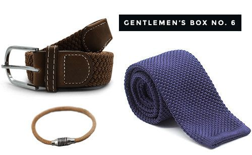 The Dapper Gentleman's Box No. 6 #gentleman #giftbox #forhim #dapper #menswear #tie #belt #bracelet
