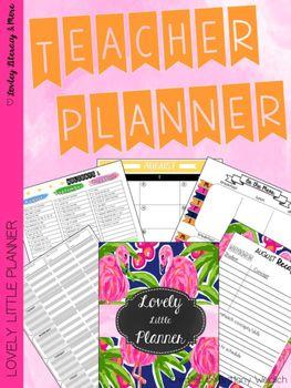 Teacher Planner: Lovely Little Planner Flamingo 2016-2017