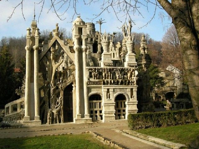 FERDINAND CHEVAL PALACE (The ideal palace), located in France was built by a postman with the stones picked up during his daily mail round