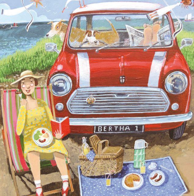 'Picnic' By Painter Stephanie Lambourne. Blank Art Cards By Green Pebble. www.greenpebble.co.uk