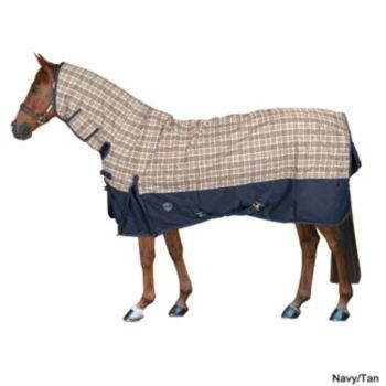 Defender Classic Plaid Combo T/O Sheet 69In Navy/T by Defender. $76.49. Defender(R) Classic Plaid 600 Denier Integrated Neck Combo Turnout Sheet Defender turnout blankets are classically designed with a snug neck, deeper fit, lower drop and seamless back to provide the best defense against rain and weather conditions. Now available in sizes to fit ponies, horses and warmbloods in a wide range of body types for any breed. Exclusive plaid design accented with a comp...