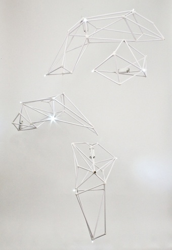 Constellation Mobile by Bec Brittain | #lighting #sculptural #polygonal