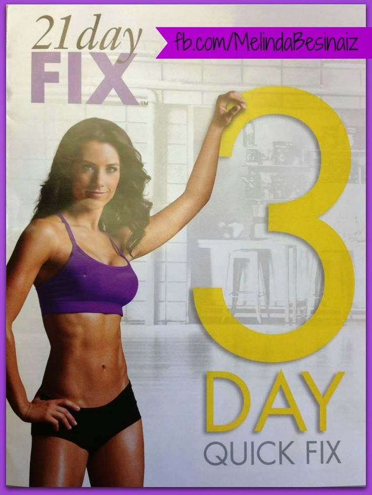 21 Day Fix - 3 Day Quick Fix guide with meal plan.   Fast results in 3 days to slim down quick!  Healthy recipes at www.melindabesinaiz.blogspot.com