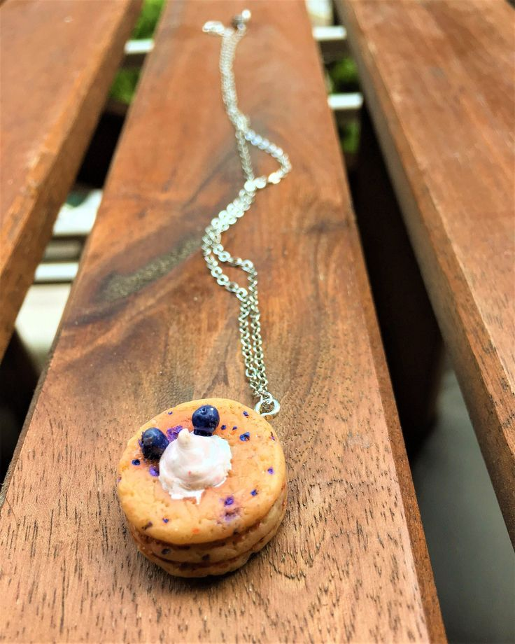 #jewelry #necklace #circle #fooddrink #girly #women #foodminiature #pancakes #style #polymerclay #etsy #miniature