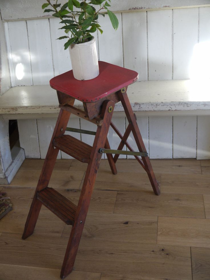 Vintage Pantry Step Ladder - Small Step Ladder by VintiqueTree on Etsy