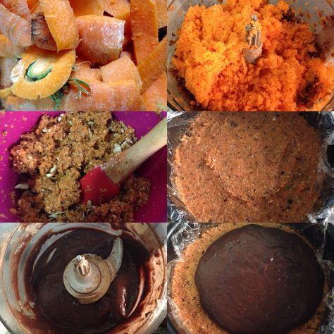 """Pastel de zanahoria o """"Carrot Cake"""" crudo sin azúcar, lacteos ni gluten -"""