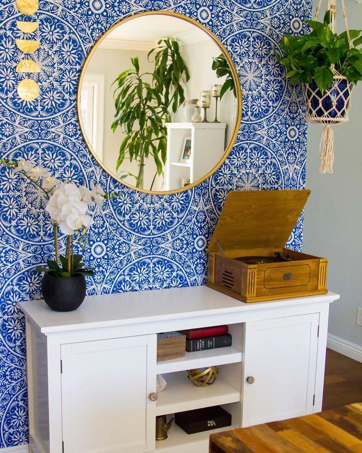 Wallpaper Feature Wall Bohemian Boho Peel And Stick Wallpaper Hanging Plants Wallpaper Bedroom Feature Wall Feature Wall Bedroom Feature Wall Wallpaper