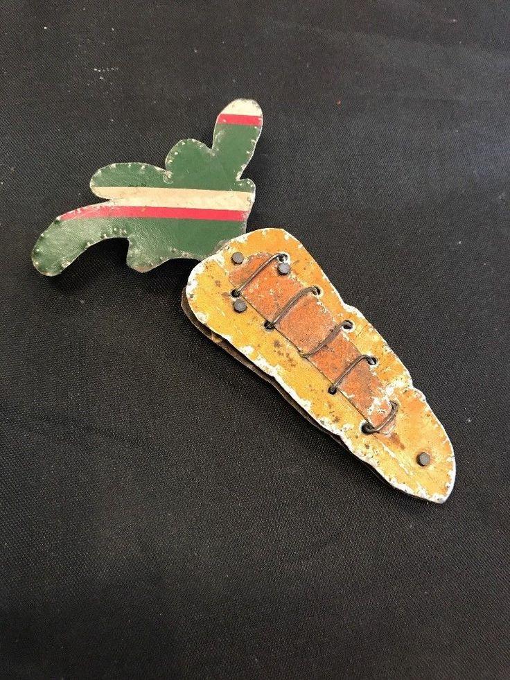 Brooch Handmade Sheet Metal Carrot Design  | eBay