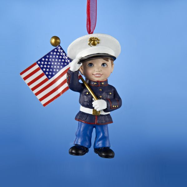 United States Christmas Ornaments Part - 44: Country Marketplace - U.S. Marines Kid Ornament, $11.99 (http://www.