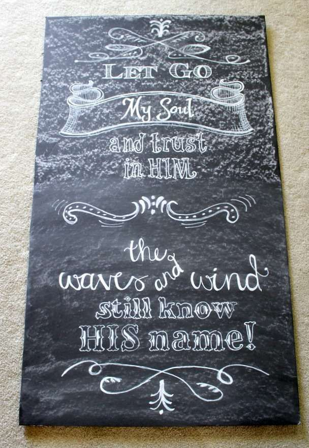 Using black foam board and this transfer method allows you to preserve your chalkboard masterpieces and change them out quickly from season to season!