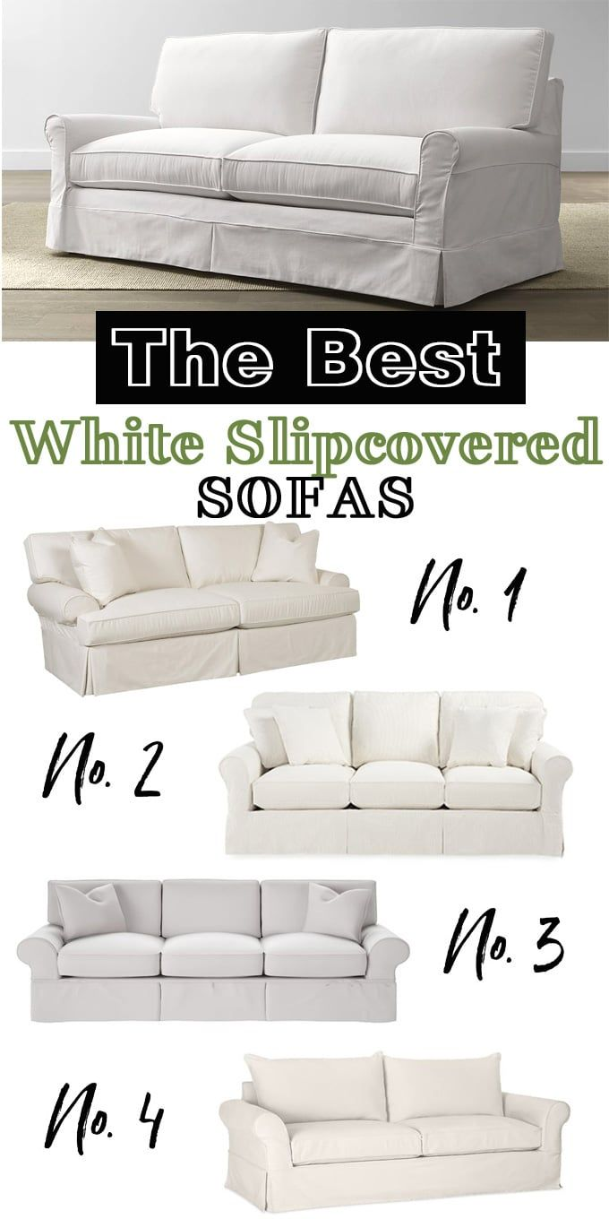 The best white slipcovered sofas that are comfy, well made and go ...