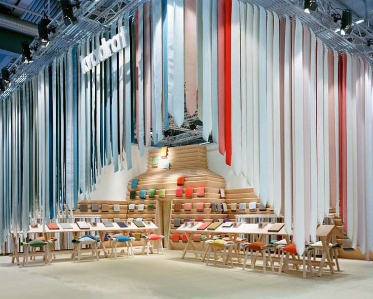 the picnic by raw edges - textile installation made of 1500 kvadrat straps
