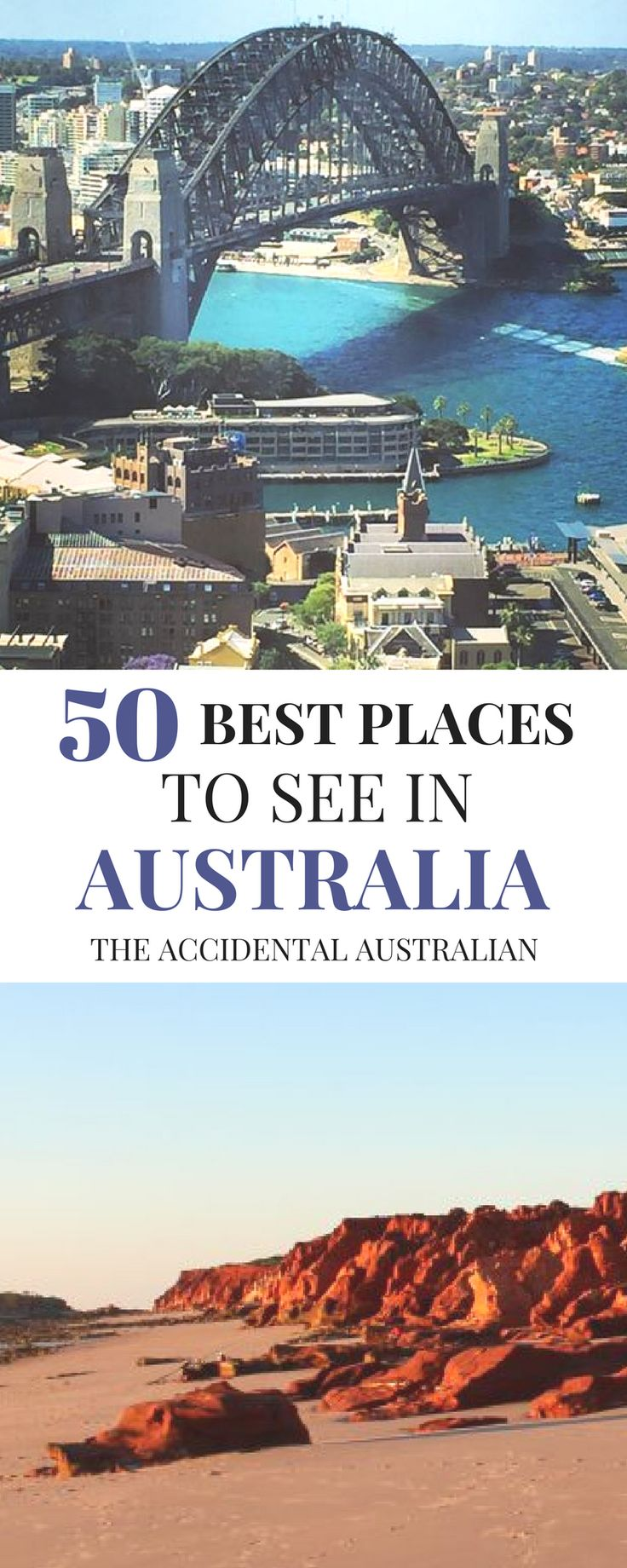 Here's a list of 50 of the best places to see in Australia #travel #traveldestinations #australiatravel
