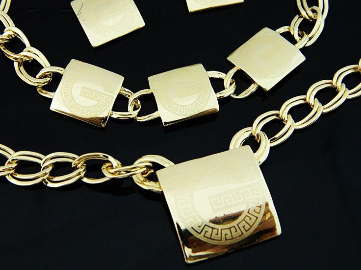 Szlachetny komplet, w którym złote kwadraty o niepowtarzalnym stylu dodają blasku! #MarcoDiamanti #komplet #biżuteria #złoto