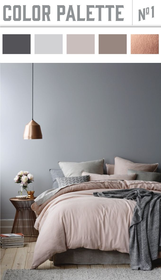 Good Pink Warms Copper   Grey Adds Mystery   Love Hanging Lamp Neutral Copper Color  Palette. Bedroom ...