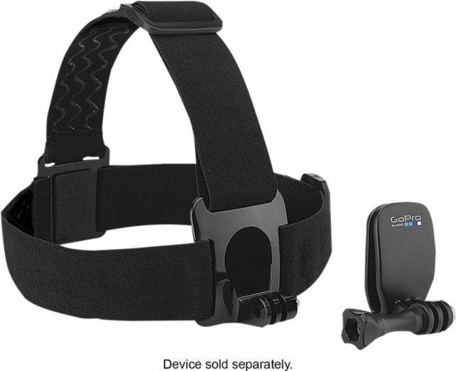GoPro - Head Strap and QuickClip - Black - Angle Zoom