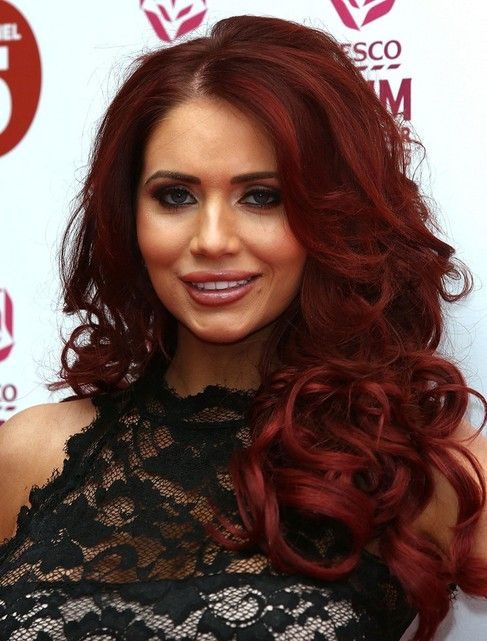 Red Hair Curly Hair | Amy Childs Hair Styles 2014: Red Long Curly Hairstyle /Getty Images