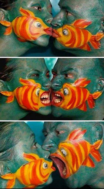 fish face makeup costumes