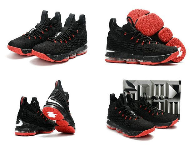 super popular cb877 994b3 2018-2019 Cheap Cheap LeBron Shoes 2018 Lebron 15 XV Bred Black Sport Red