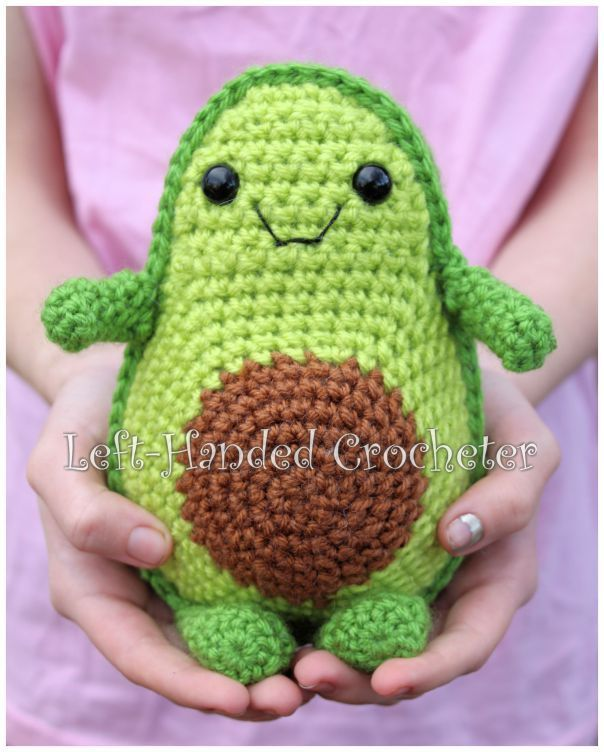 Häkeln Sie Spielzeug Avocado-Muster