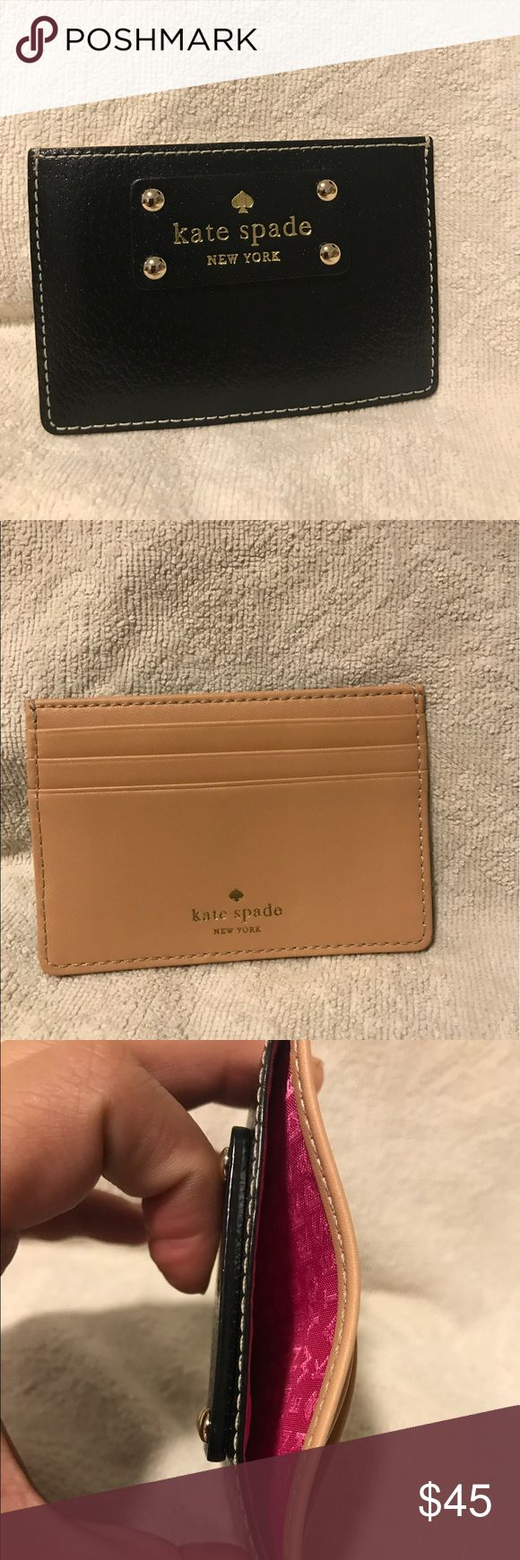 Kate Spade Wellesley Graham Credit Card Holder Wlt Kate Spade Graham Black Leather Credit Card Holder Kate Spade Graham Wellesley  Credit Card Holder / Case / Wallet  Guaranteed Authentic! New with Tags!  Information:  Brand: Kate Spade Name: Graham Wellesley Style#: WLRU1147 Color: Red Plum Measurements: Approx 2.9 x 4.3 inches Material: Leather 3 card slots, 1 ID slot Fabric Lining with Kate Spade logo kate spade Bags Wallets