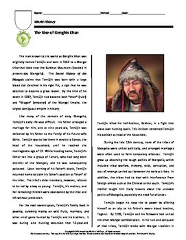 genghis khan destined to be a Genghis khan remains a hero of mongolian society and his image can be found everywhere from money to vodka labels jackmac34/pixabay a conqueror of such great power and influence, genghis khan was destined to be a leader from birth according to mongolian folklore.