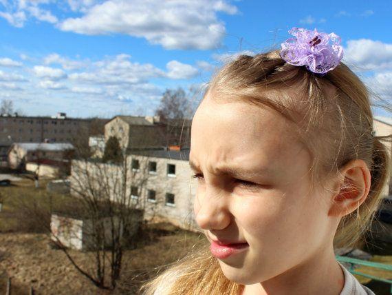 Lavender ponytail hair holder For Girl Kids Pale by SalixCinerea