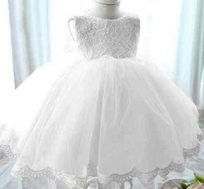 White Lace Baptism Dress Christening Dress Holiday dress