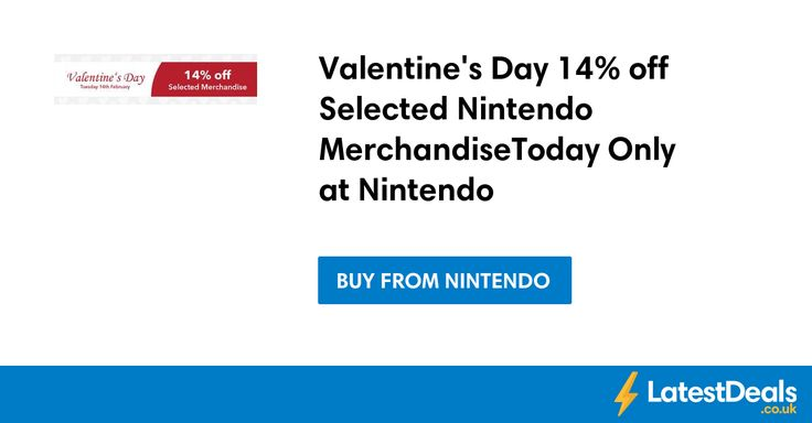 Valentine's Day 14% off Selected Nintendo MerchandiseToday Only at Nintendo at Nintendo
