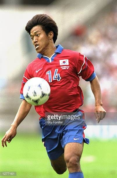 Ko JongSoo of South Korea in action during the World Cup group E game against Mexico at the Stade Gerland in Lyon Mexico won the match 31 Mandatory...