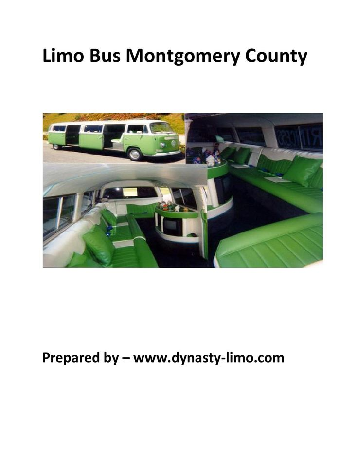 Limo bus montgomery county by dynasty limounise service inc