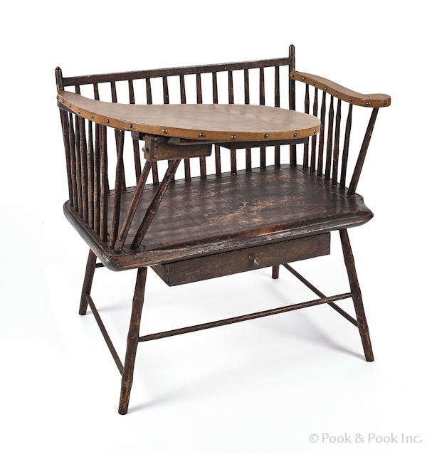 1810 Writing Arm Windsor Bench  Windsor ChairsAntique ChairsWooden ChairsPrimitive  FurnitureVintage  93 best Windsor chairs images on Pinterest   Primitive furniture  . Primitive Dining Table Set. Home Design Ideas