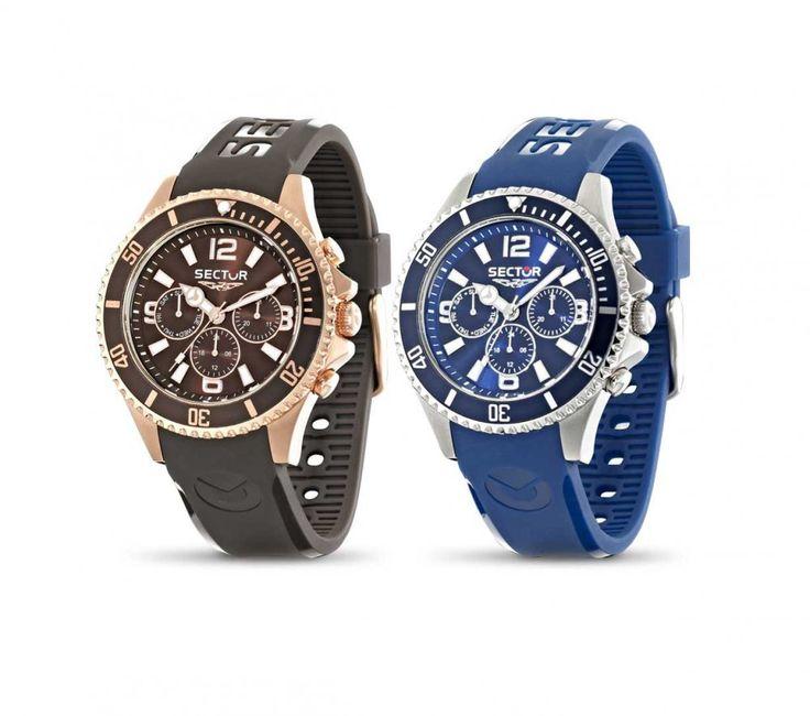 Pánské hodinky značky Sector se vyznačují elegantním designem ve sportovním duchu. Tato varianta je vyrobena z kaučuku v kombinaci s ocelí. Vodotěsnost je do 100M. Mimo času zobrazují přehledně také datum a den v týdnu, dále 24h čas.
