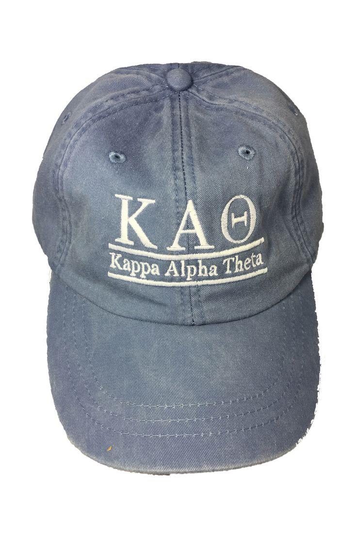 Kappa Alpha Theta Sorority Hat- Periwinkle - Brothers and Sisters' Greek Store
