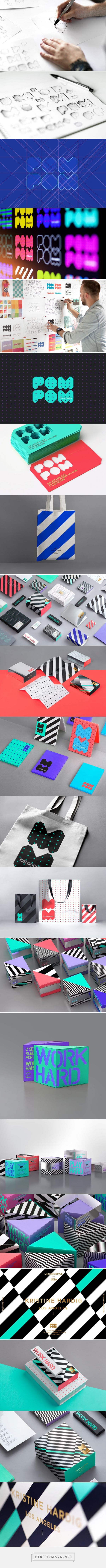 POM POM #lingerie #packaging designed by Reynolds and Reyner​ - http://www.packagingoftheworld.com/2015/05/pom-pom.html
