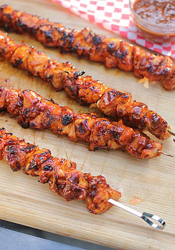 BBQ Chicken Kebabs with Bacon Rub
