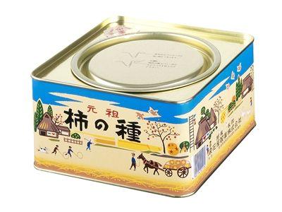K08 柿の種進物缶 : 商品情報 - 浪花屋製菓