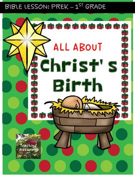 Bible Lesson All about Christ's Birth tells Jesus story from when the angel told Mary she was going to have a baby until the 3 wise men visit Jesus. This lesson is ideal for Preschool and Kindergarten students and for some 1st graders as well. This product includes: a simple 10 minute lesson with 4 visuals in color + a graphic organizerA printable readerA sequence activity, with the correct order of the story.A Bible Verse coloring sheet in both KJV and NIV versions.This lesson can be used…