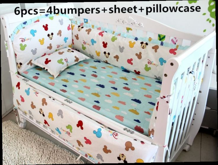 43.80$  Watch now - http://alivjr.worldwells.pw/go.php?t=32461915474 - Promotion! 6PCS baby bed bumper baby crib bedding set newborn baby bedding set (bumper+sheet+pillow cover)