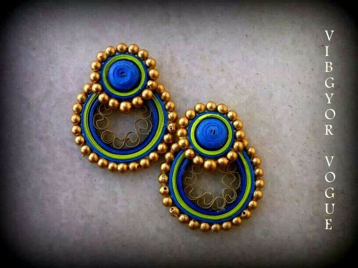 Quilled earrings By Shruti