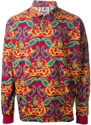 Versace Vintage baroque paisley print polo shirt - Shop for women's Shirt -  Shirt