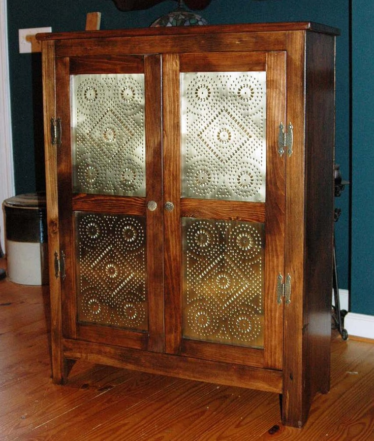 Hand Made Solid Reclaimed Pine Primitive Style Pie Safe