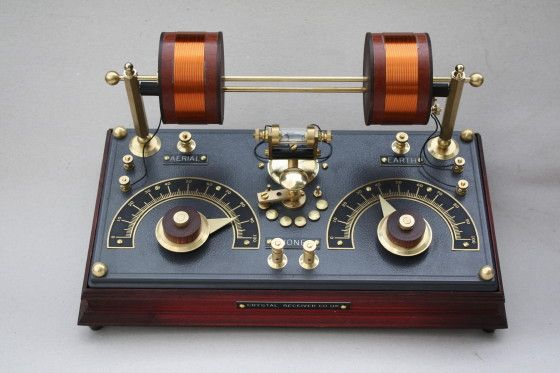 """The 'Jules Verne' DeLuxe Brass Crystal Radio"""