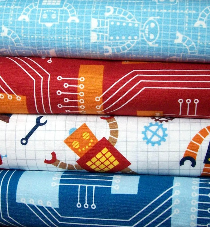 26 best images about fabric 4 robo quillow on pinterest for Robot quilt fabric