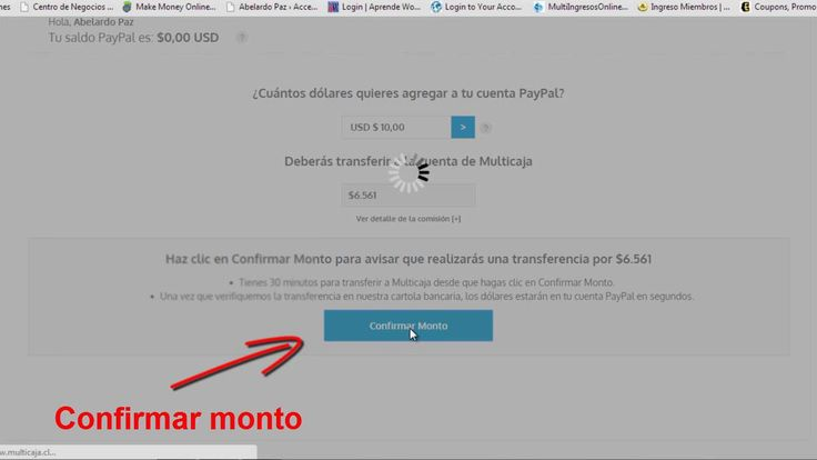 Como cargar Paypal desde cuenta rut (Chile) 2015 #GanarDinero
