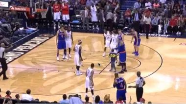 Carmelo Anthony hugging gaffe costs usher, security guard their jobs